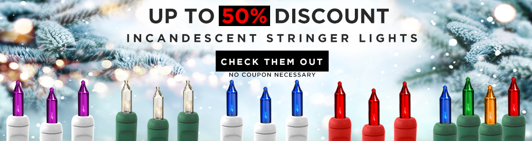 Incandescent Stringer Light Sale